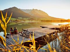 A1 - Relaxed cycling to lake Walchsee